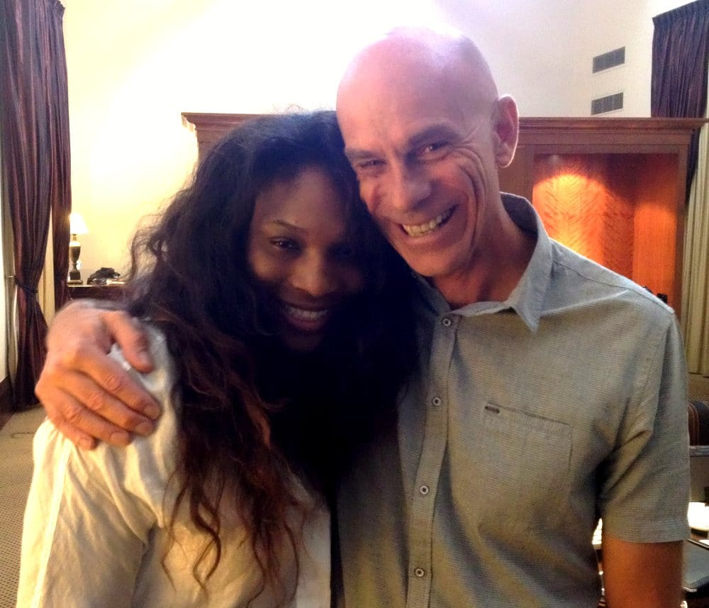 serena williams with alan jansson